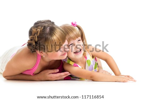 mother playing with her daughter