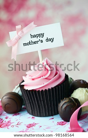 Mother\'s day cupcake
