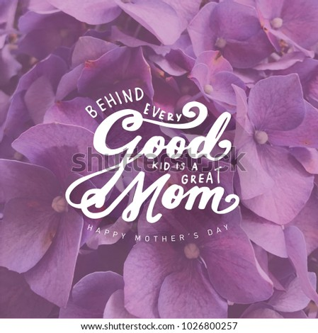 mother's day greeting  - Shutterstock ID 1026800257