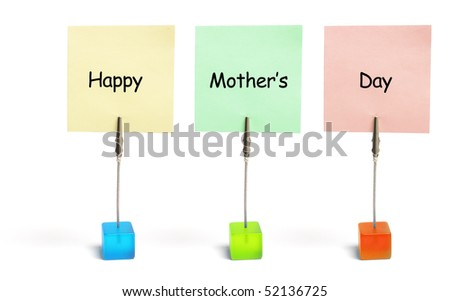 Mother's Day greetings on White Background
