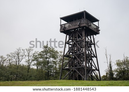 Mother Theresa (Terez Anya) lookout tower in an autumn afternoon in Zalakoveskut, Hungary Stock fotó ©