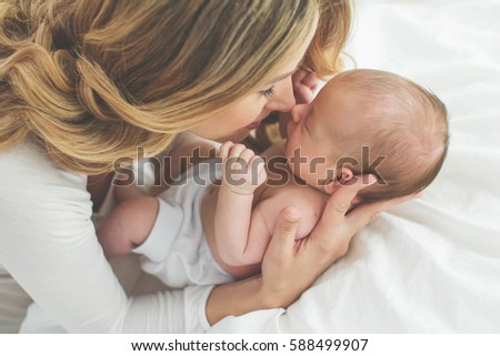 Mother with a baby