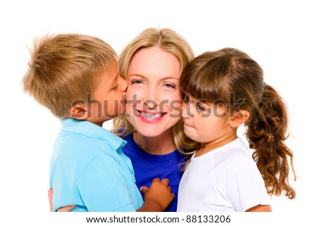 mother with children