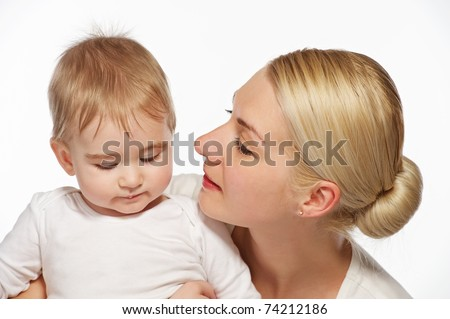 Mother with her adorable baby