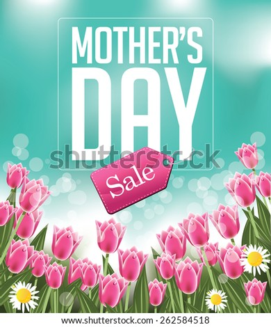 Mothers Day sale background royalty free illustration for greeting card, ad, promotion, poster, flier, blog, article, social media, marketing, flyer, web page, signage