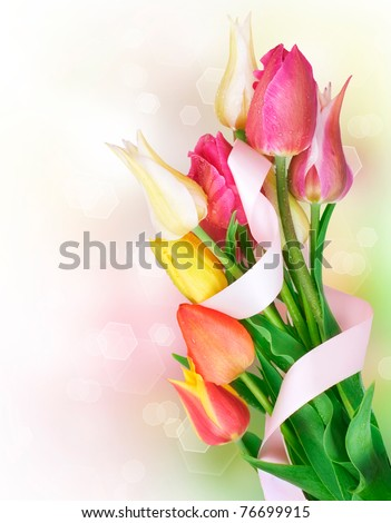 Mothers Day spring flowers bouquet