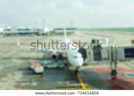 motion blur  airplane in the...
