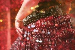 Motion Blur Belly Dancer Close-up