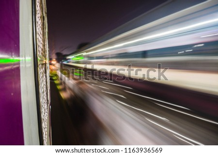 Motion blur photos in Mumbai local. #1163936569