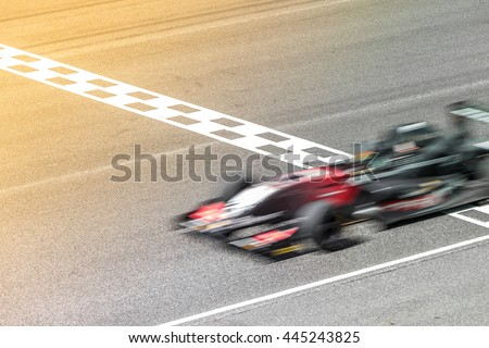 Motion blur, Race car racing on speed track with