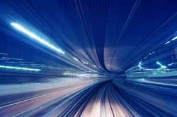 Motion blur train road background