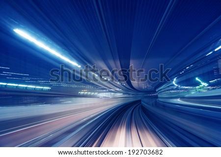 Motion blur train road background