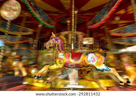 motion blurr of vintage horse...