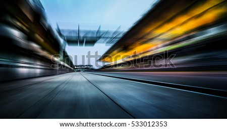 Motion blurred racetrack #533012353