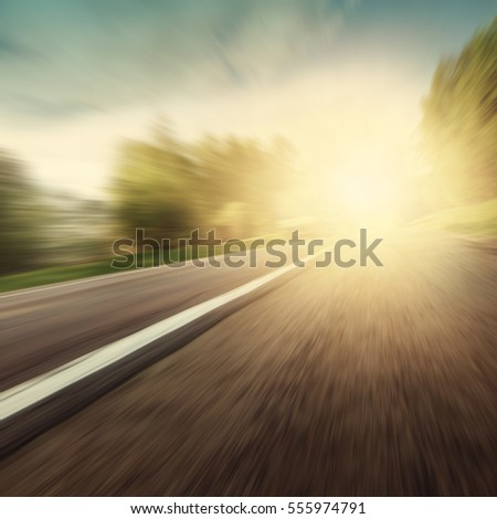 motion blurred road in grunge...