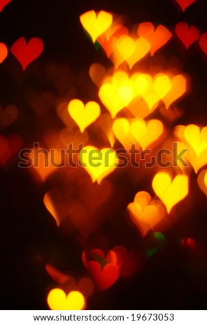 motion colored hearts