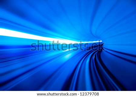 motion fast in tunnel
