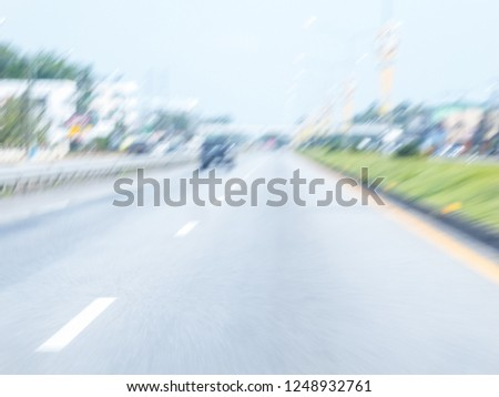 Motion image of doze off while driving on the road, Motion image of accident on the road