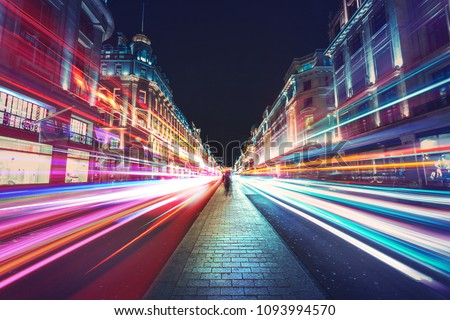 Motion Speed Light in London City #1093994570