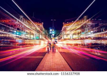 Motion Speed Light in London City #1156337908