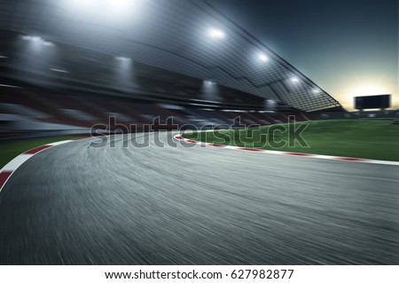 Motion Speed racing track - Shutterstock ID 627982877