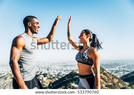 motivated couple of runners...