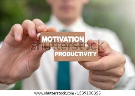Motivation Productivity Business Efficiency Work Management concept. #1539100355