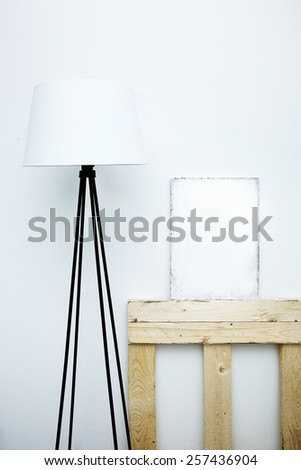 Motivational hipster board mock-up with  place for text. Scandinavian  style room interior