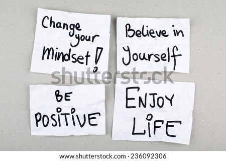 Motivational Inspirational Positive Quotes Phrases / Change Your Mindset, Believe in Yourself, Be Positive, Enjoy Life