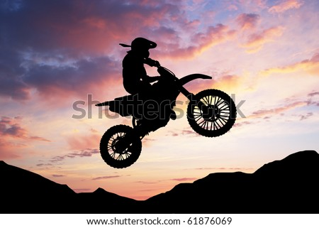 Moto racer in sunny sky. Element of sport design.
