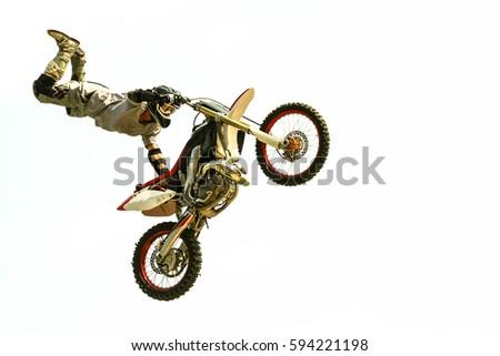 Moto sport bike jumps