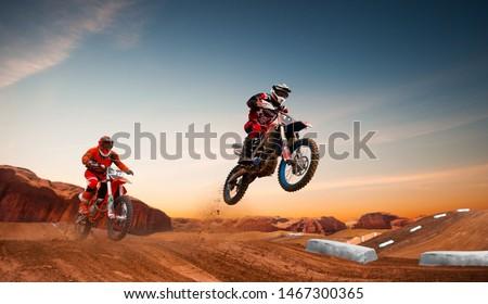 Motocross rider in action. Motocross sport. Stock photo ©