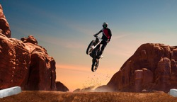 Motocross riders in action. Motocross sport.