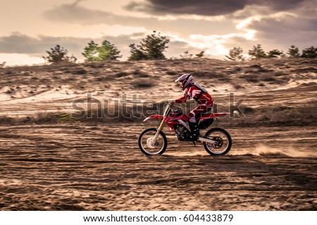 motocross Safari motorcycle on a beautiful background