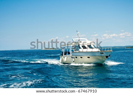 motor boat cruising the sea