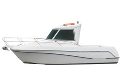 motor boat isolated on a white background