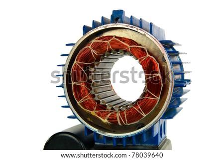 Motor, isolated on a white background - stock photo