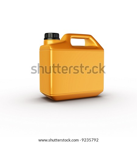 motor oil big bottle yellow plastic