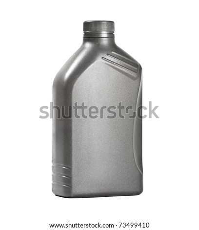 motor oil can isolated on white - stock photo