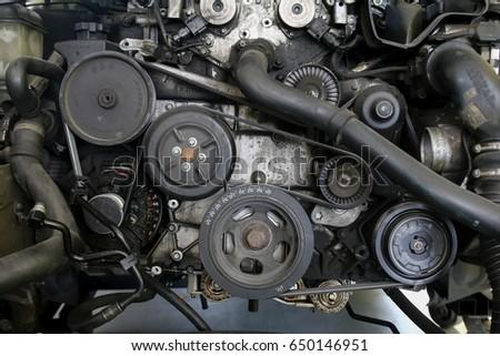 Motor parts of automobile #650146951
