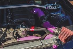 Motor racing car. Drift car. Car tuning.