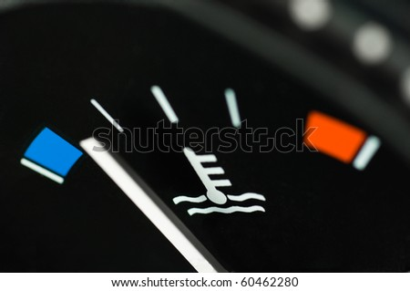 Motor temperature gauge of a car