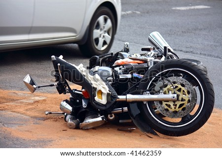 motorbike accident on the city street