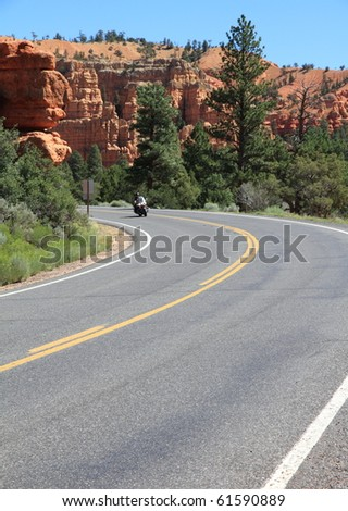 motorbike and road