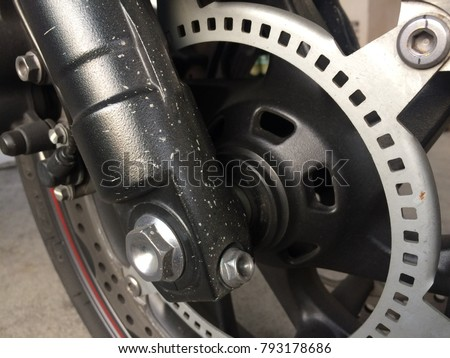 Motorbike Front wheel disk brakes #793178686