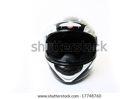 motorbike helmet isolated on a white background