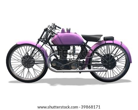 motorbike retro 3D