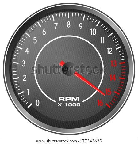 Motorbike tachometer illustration isolated on white background Foto stock ©