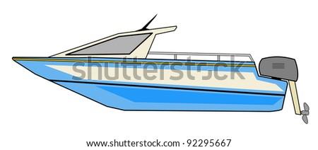 Motorboat - stock photo
