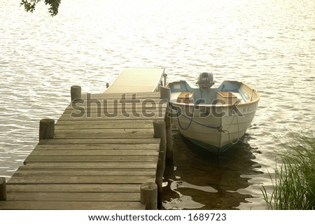 motorboat at the dock